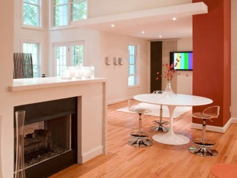 Modern Fireplace Under bar set