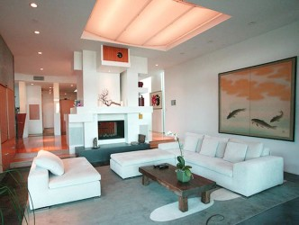 Modern Fireplace ideas at living room