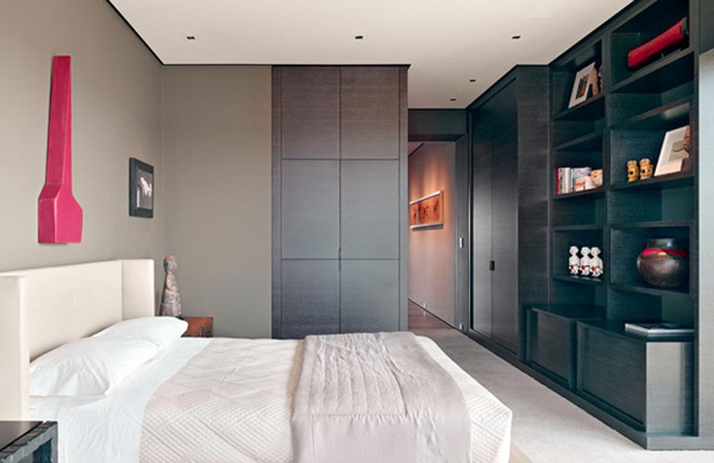 Russian Hill men bedroom