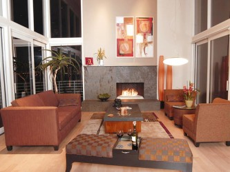Simple Modern Fireplace at living room