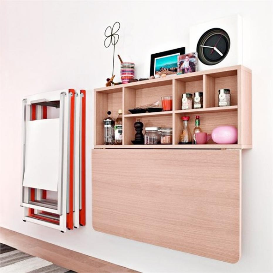 Wall Mounted Dining Table When Not Active