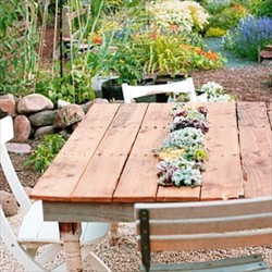 Wood Pallet Furniture Idea Table Exterior