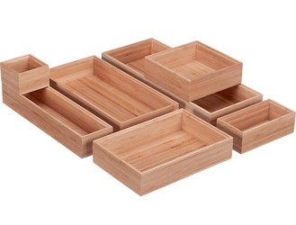 Bamboo drawer organizers idea