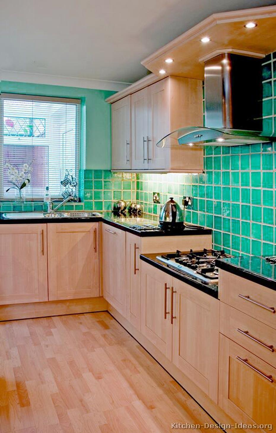 Blue Turquoise Tile Backsplash  Using turquoise backsplash for the