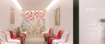 Comfortable waiting room doctor office design