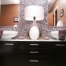 cool-double-sink-bathroom-vanity-with-lamp