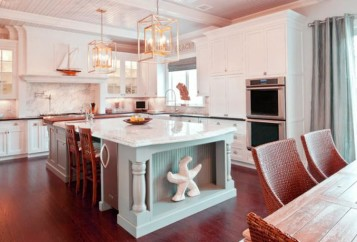 Country kitchen island table