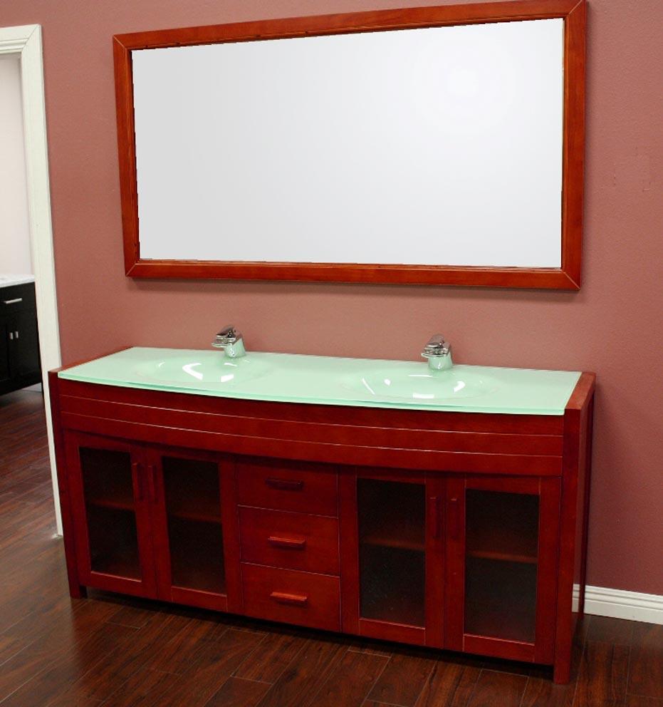 Flat Double Sink Bathroom Vanity