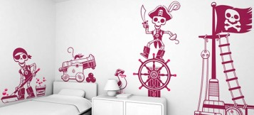 Giant wall stickers sets pirates themes