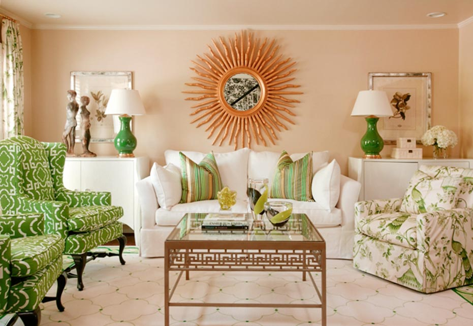 green living room color