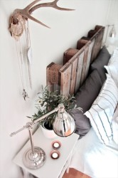 Headboard Wood Pallet Furniture Idea