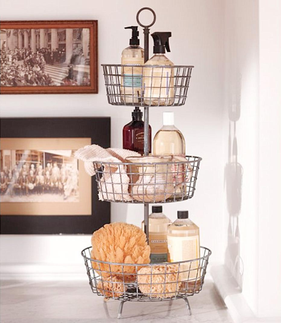Iron Bath Product Storage Idea