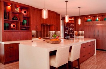 Kitchen island and table storage