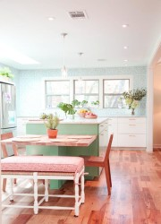 Kitchen island with table we love
