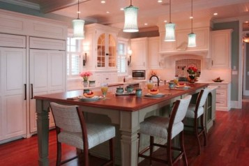Kitchen lights island and table
