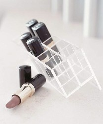 Lipstick stand makeup storage idea