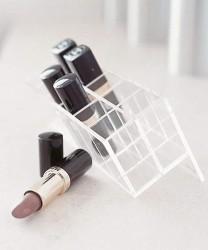 Lipstick stand makeup storage idea
