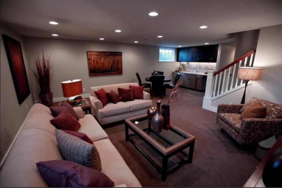 Living Space Basement Remodel 7