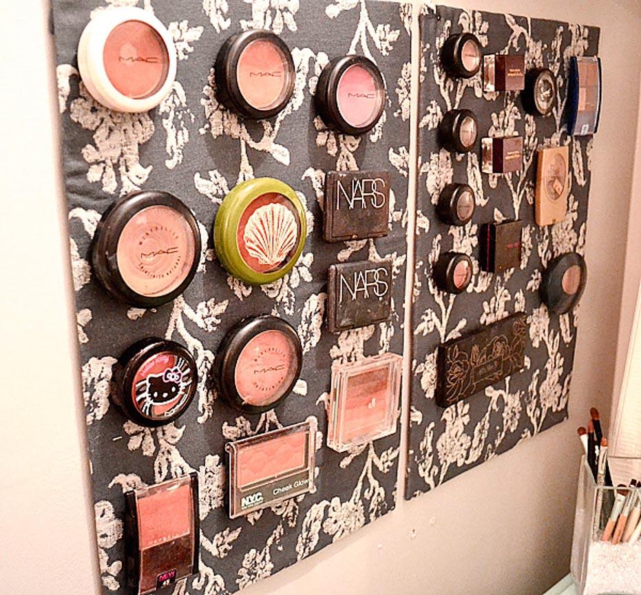 Makeup Wall Storage Idea
