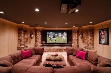 Media room basement remodel 2