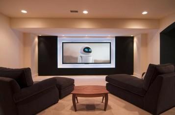 Media room basement remodel 9