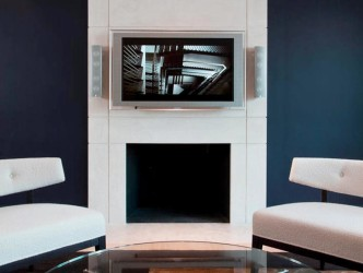 Modern fireplace idea