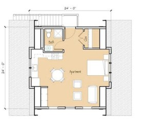 Modern garage apartment plan 2
