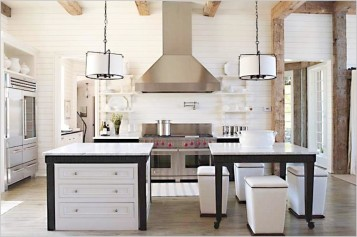 Modern kitchen island table combination