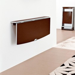 Modern wall mounted dining table when not active