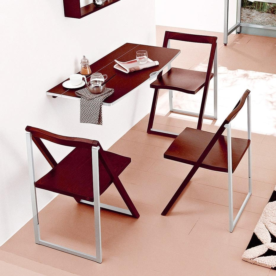 modern wall mounted dining table spotlats