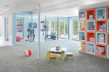 Multi activity remodel basement