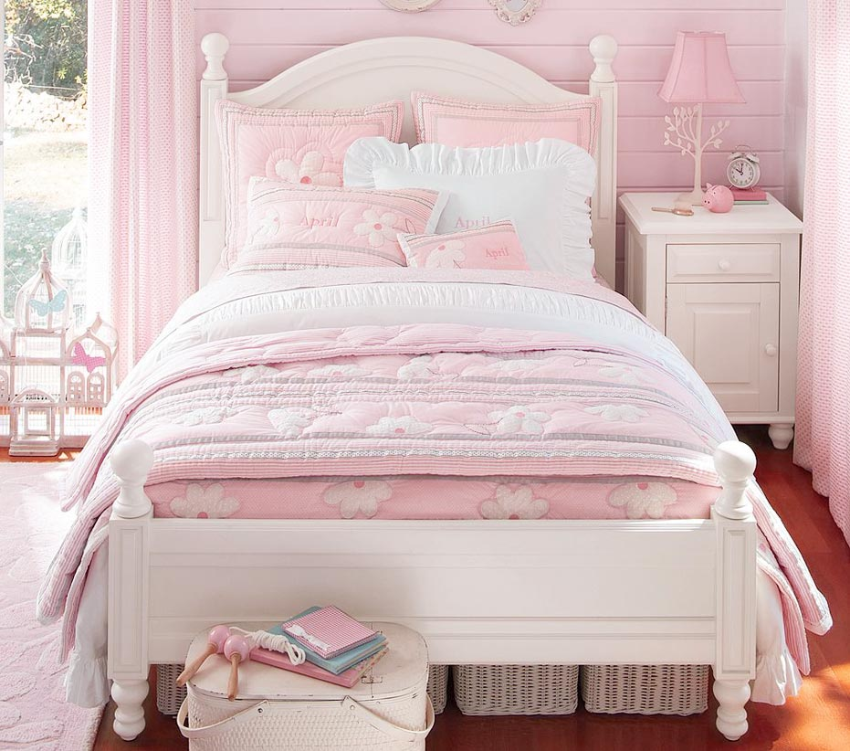 pink pottery barn bedroom