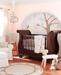 White Wall With Pottery Barn Nursery Idea