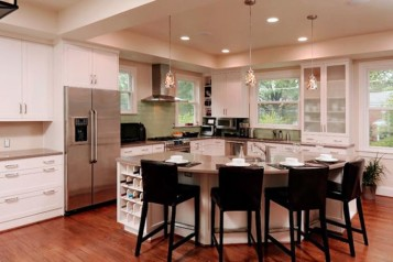 Round kitchen island