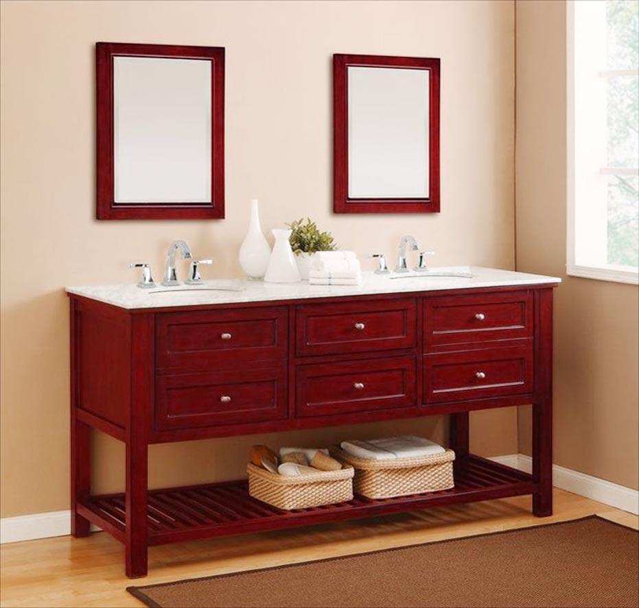 Simple Double Sink Bathroom Vanity
