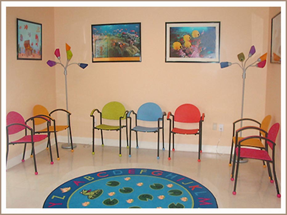 waiting room furniture with colors