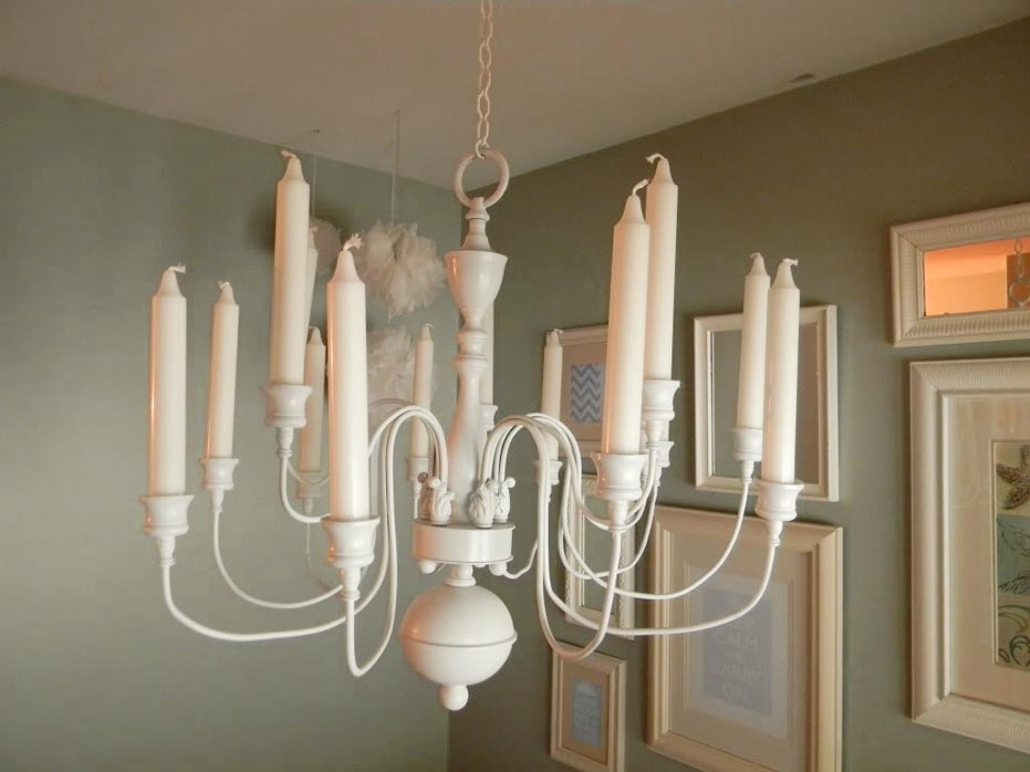 white non electric chandeliers