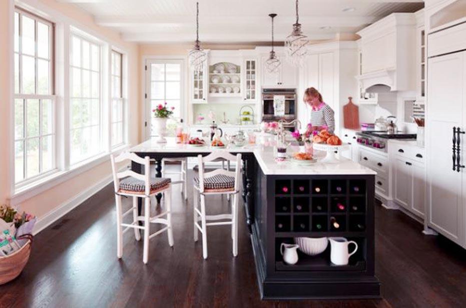 white top kitchen