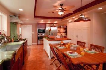 Wood kitchen with island
