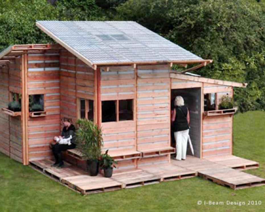 Wood Pallet Off Grid Cabin Project