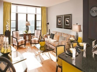 Yellow living room color