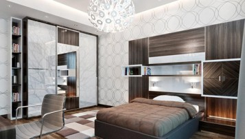 Young man 2 teenagers room idea