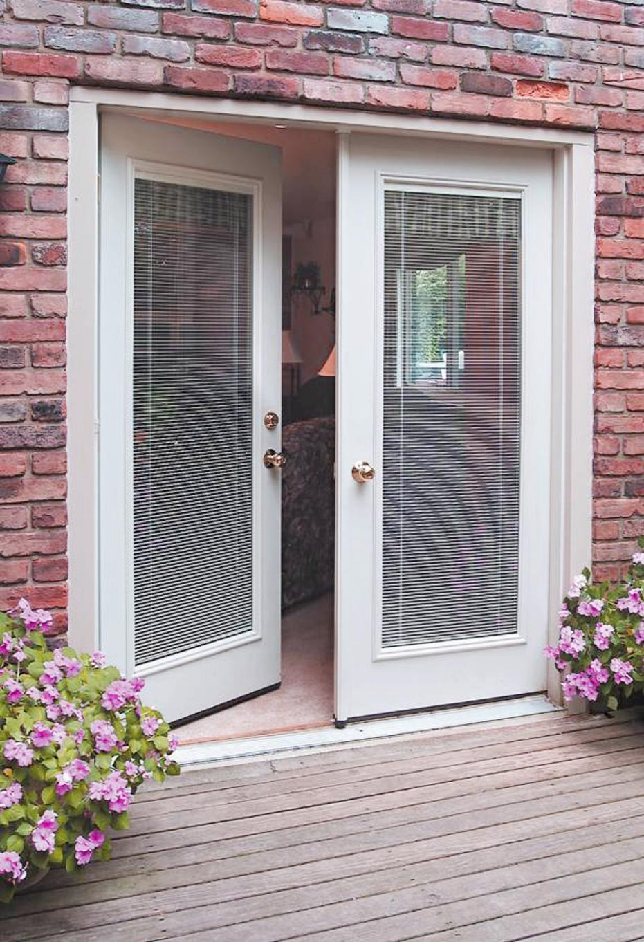 French patio doors with built in blinds 7 spotlats for Best french patio doors