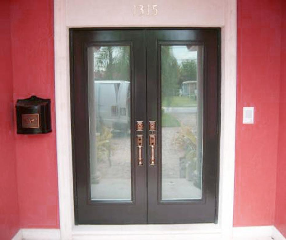 Style of french patio doors with built in blinds spotlats for Small exterior french doors
