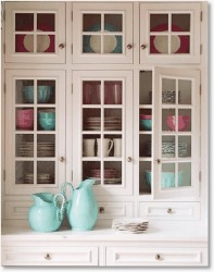 Bright Glass Front Kitchen Cabinet Doors