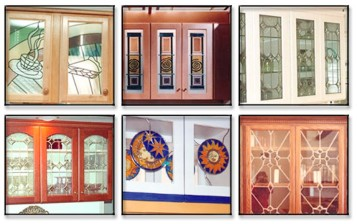 Leaded Stained Glass Kitchen Cabinet Doors 3