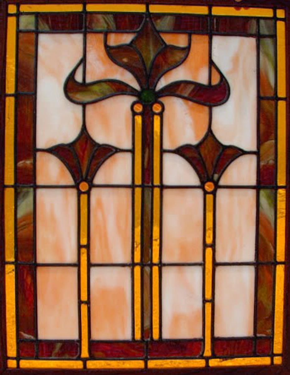 Leaded stained glass kitchen cabinet doors 4 spotlats for Arts and crafts glass