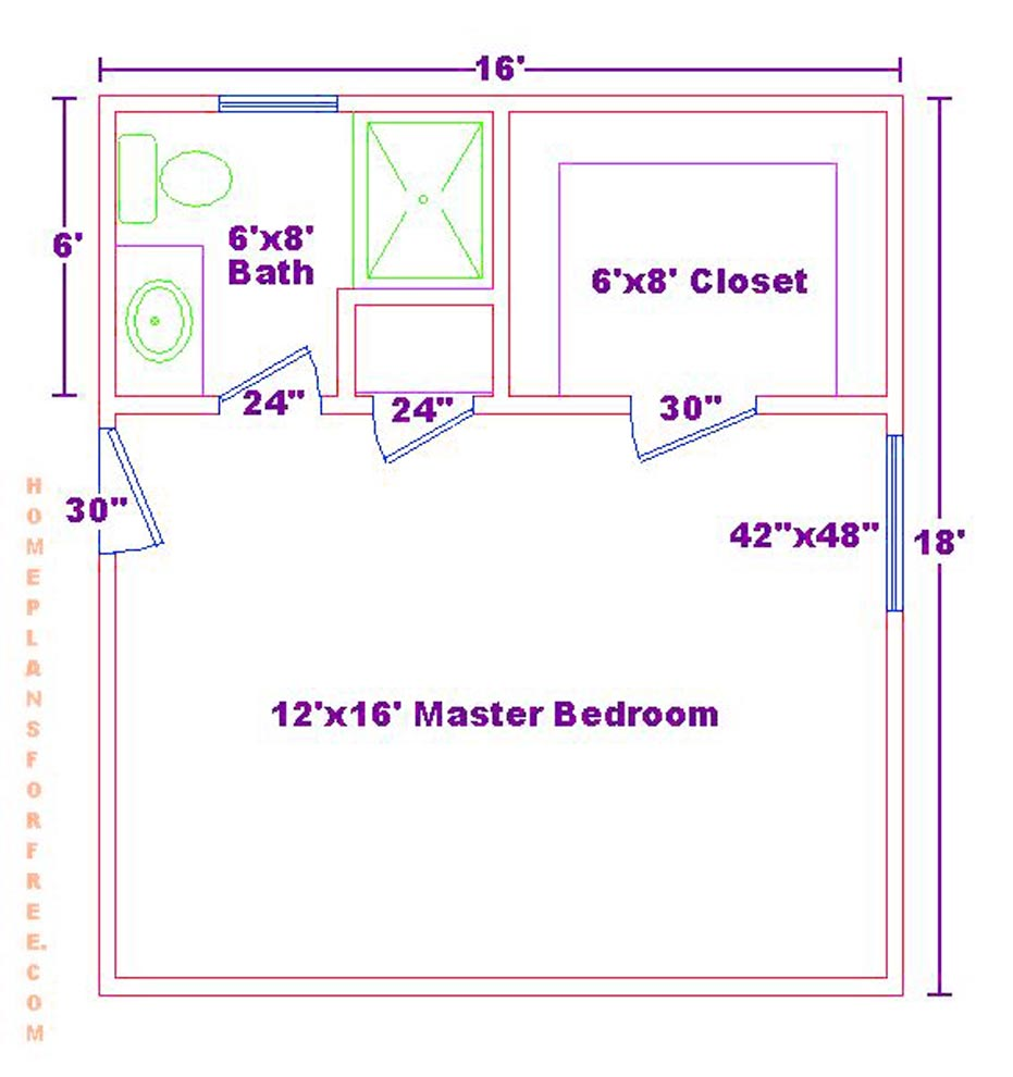 Master Bedroom Color Schemes Addition Floor Plans 7