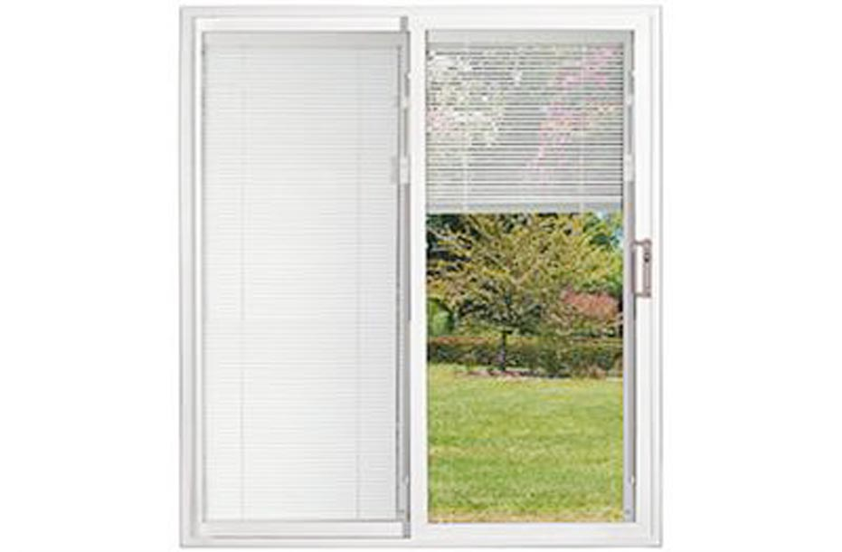 Sliding patio doors with built in blinds plan spotlats for Built in sliding doors