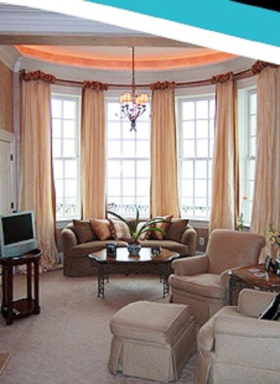 Window treatments for small bow windows 1 spotlats - Treatments for small windows ...